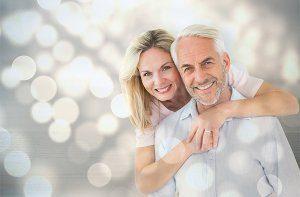 Happy Couple after Dentures Treatment in Fairfax VA