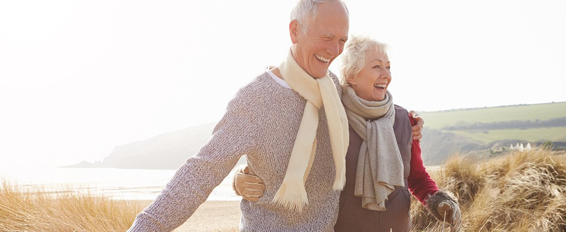 Slider Image of a Happy Old Couples