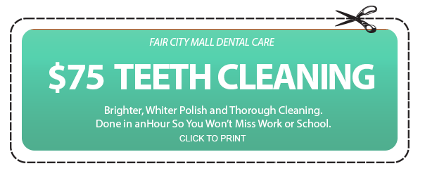 $75 Teeth Cleaning Coupon - Fair City Mall Dental Care
