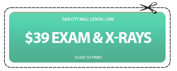 $39 Exam & X-Rays Coupon - Fair City Mall Dental Care